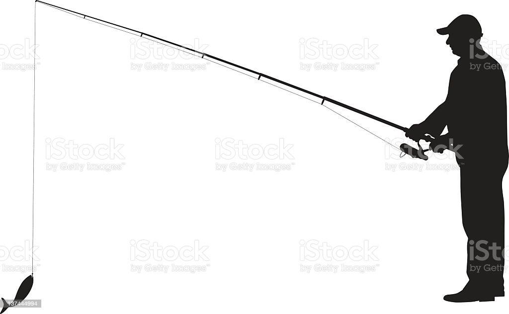 Fisherman royalty-free stock vector art