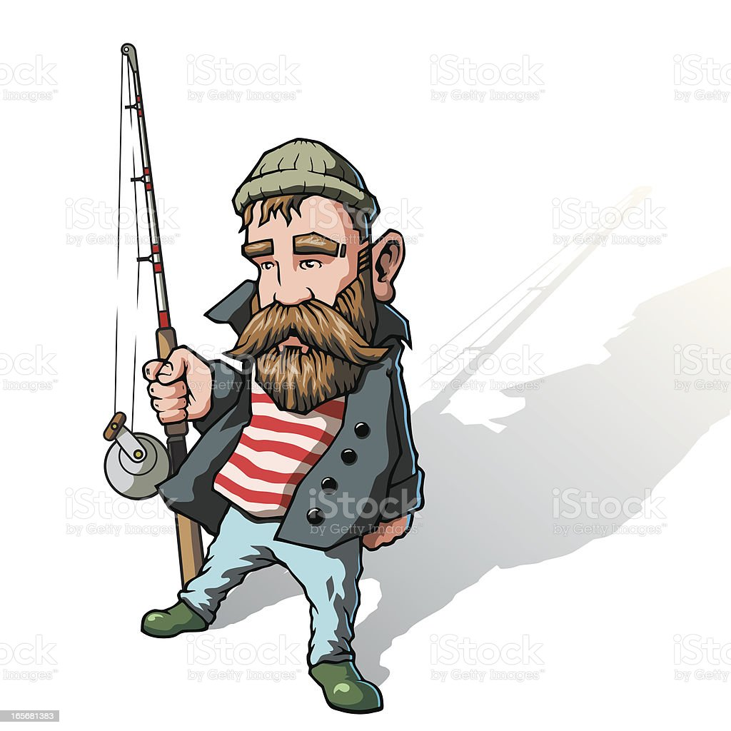 Fisherman vector art illustration