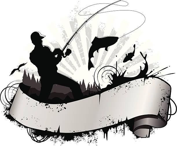 ilustraciones, imágenes clip art, dibujos animados e iconos de stock de pescador - pesca