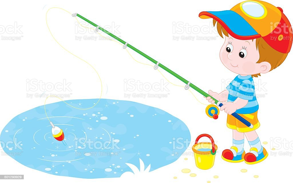 Fisherman vector art illustration