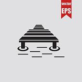 Fisherman's bridge icon.Vector illustration.