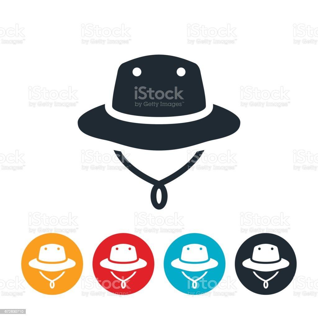 Fisherman's Hat Icon vector art illustration