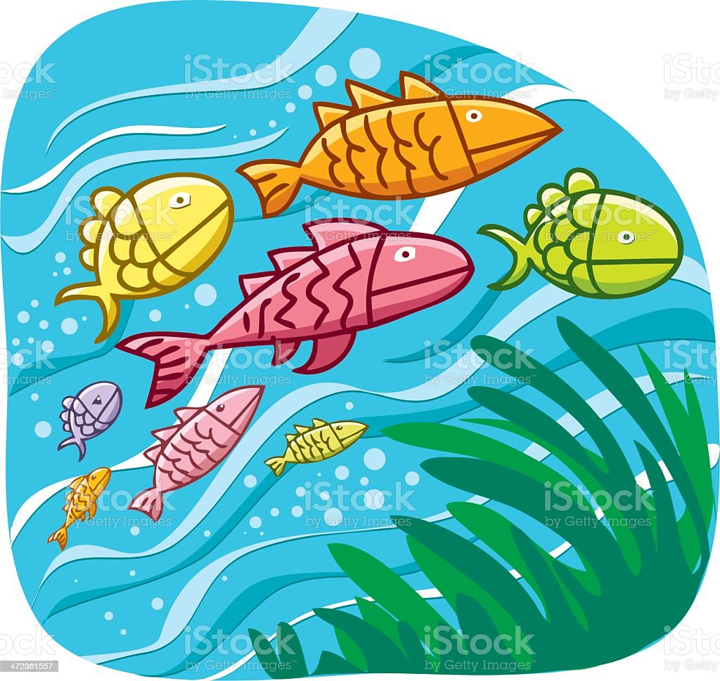 fishes and underwater royalty-free stock vector art