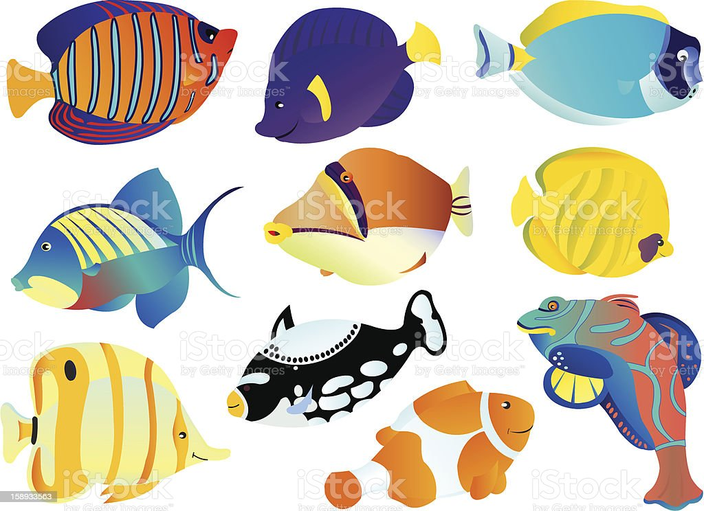Fishes royalty-free fishes stock vector art & more images of animal