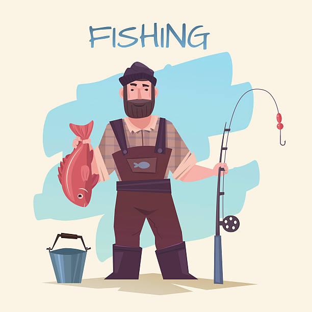 fishing and fisherman - 漁師点のイラスト素材/クリップアート素材/マンガ素材/アイコン素材
