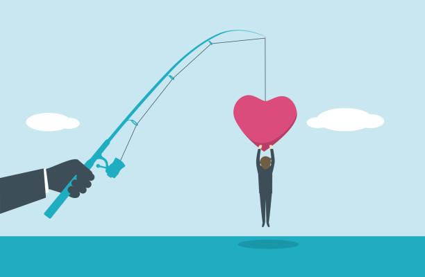 fishing bait illustration and painting romance stock illustrations
