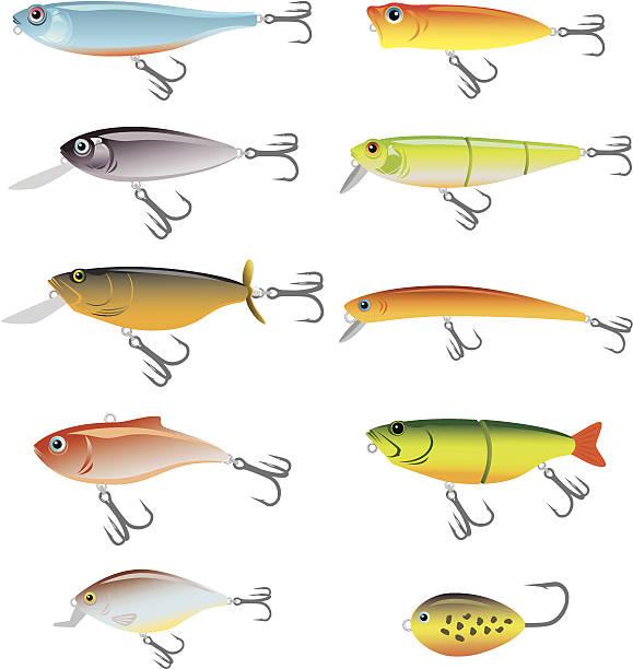 fishing bait - angelhaken stock-grafiken, -clipart, -cartoons und -symbole