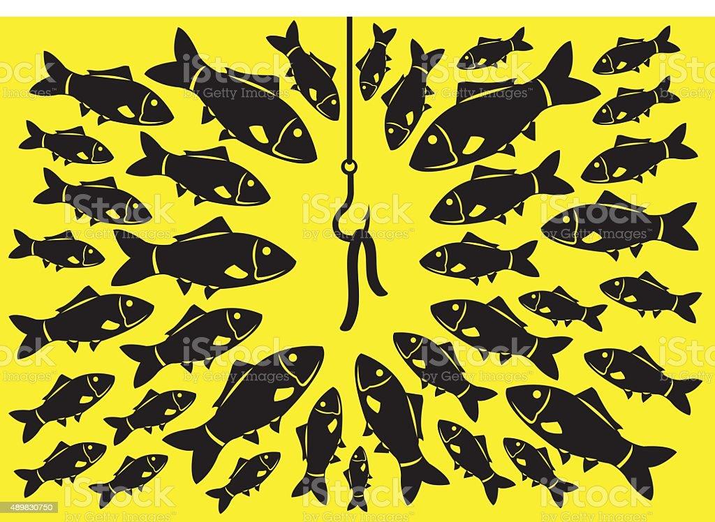 Fishing Bait Vector Illustration vector art illustration