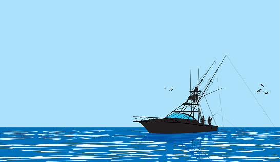 Fishing Boat - Fishermen Background