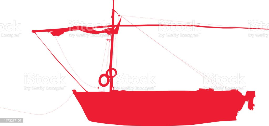 Fishing Boat Silhouette Vector Illustration Stock Illustration Download Image Now Istock