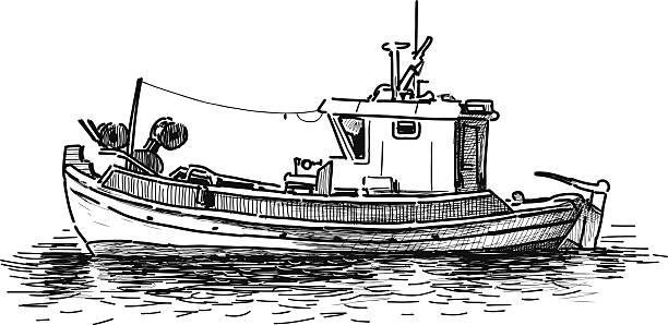 ilustrações de stock, clip art, desenhos animados e ícones de navio de pesca - fishing boat