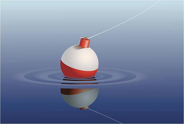 Fishing Bobber in Water vector art illustration