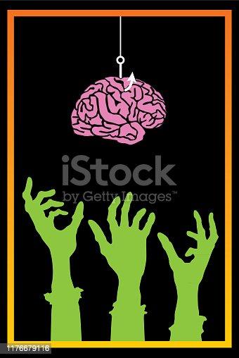 istock Fishing Brain For Zombies 1176679116