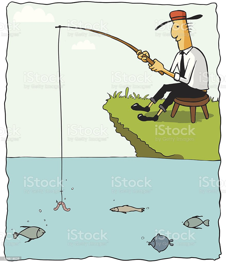 Fishing Businessman royalty-free fishing businessman stock vector art & more images of adult