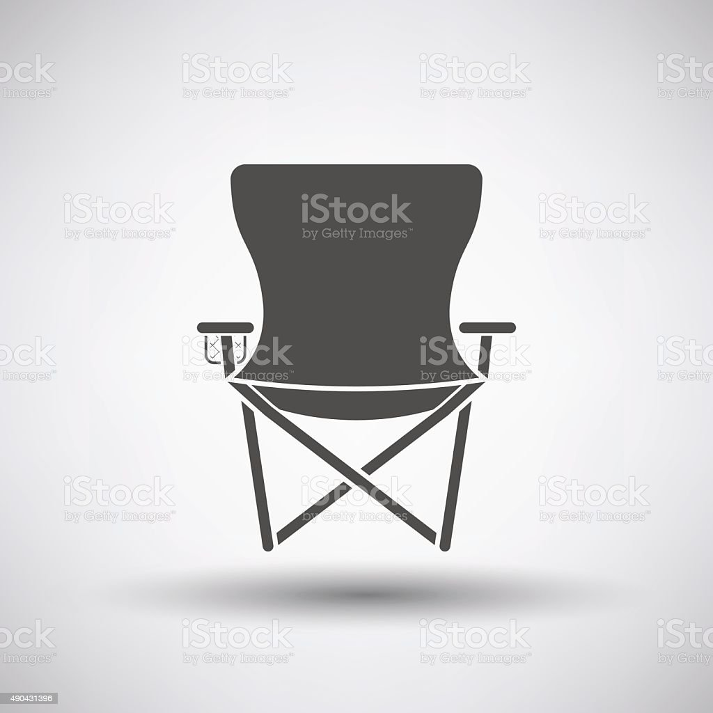 Fishing Chair Icon vector art illustration