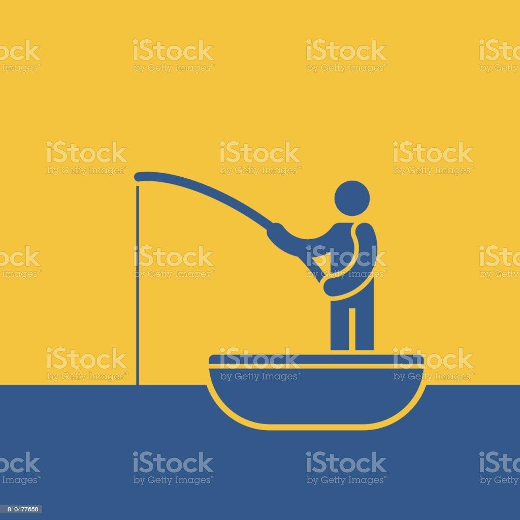 Fishing concept vector art illustration