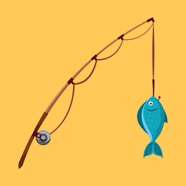 ilustraciones, imágenes clip art, dibujos animados e iconos de stock de disfruta la pesca - pesca