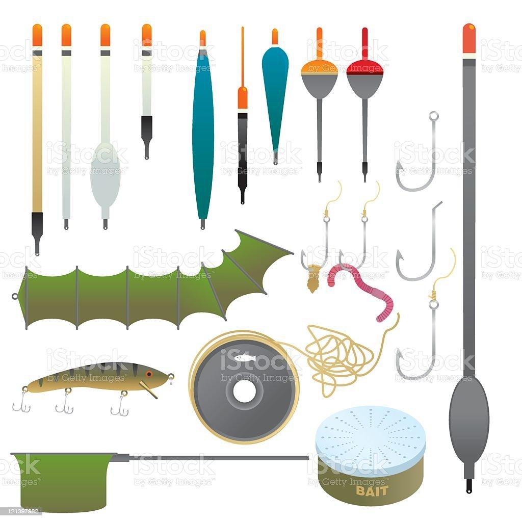 Fishing Equipment royalty-free stock vector art