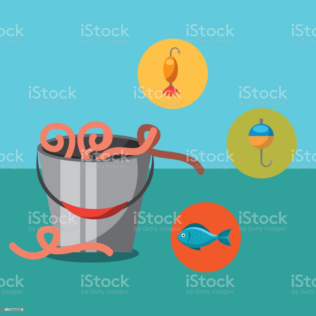 fishing fish cartoon royalty-free fishing fish cartoon stock vector art & more images of bucket