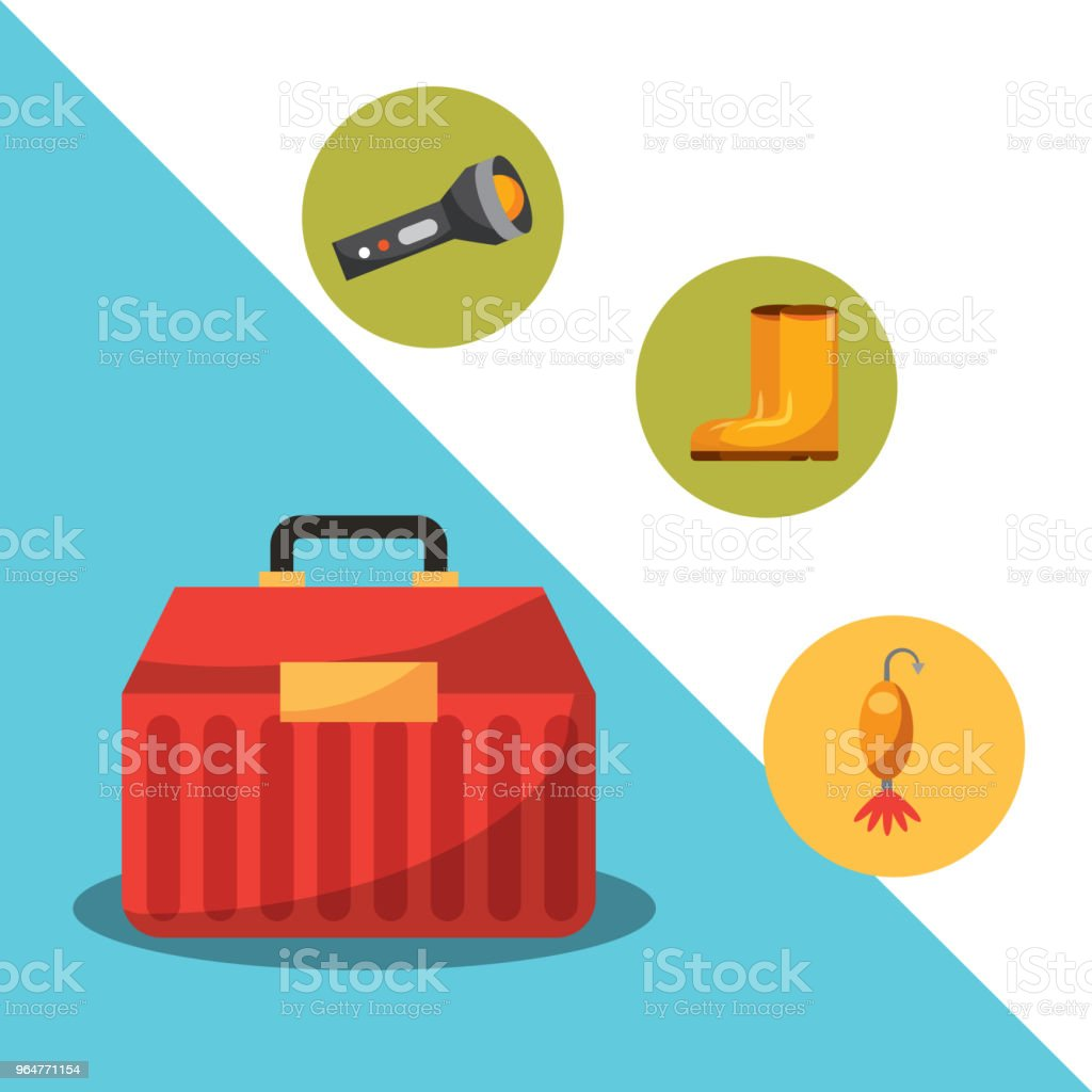 fishing fish cartoon royalty-free fishing fish cartoon stock vector art & more images of box - container