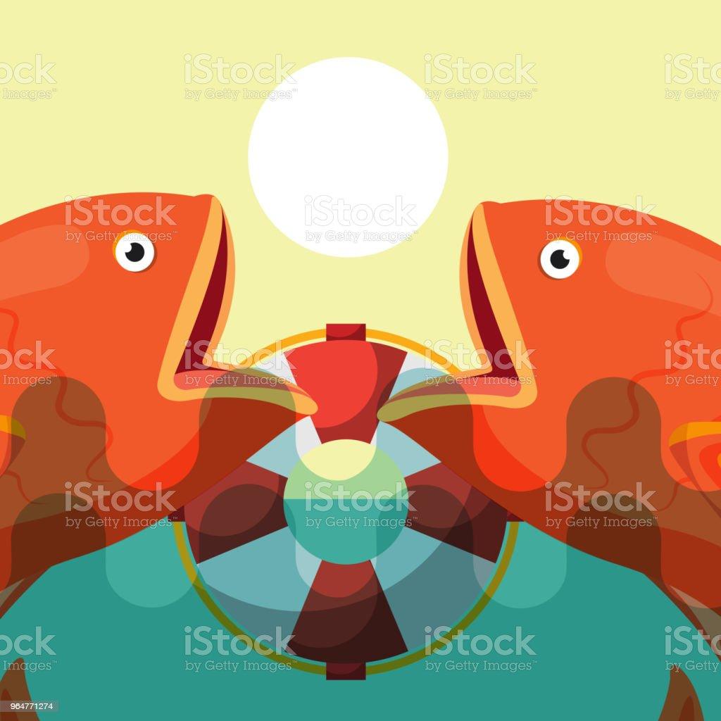fishing fish cartoon royalty-free fishing fish cartoon stock vector art & more images of backgrounds