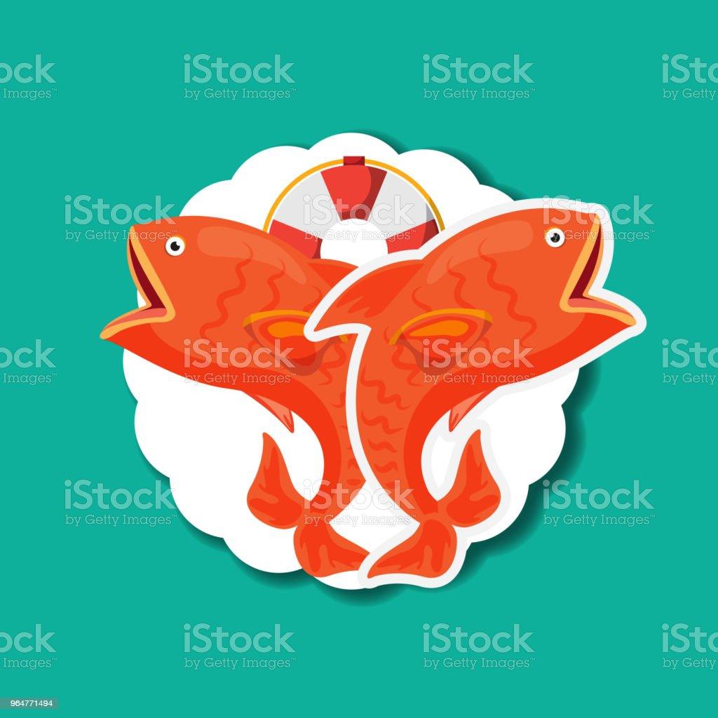 fishing fish cartoon royalty-free fishing fish cartoon stock vector art & more images of badge