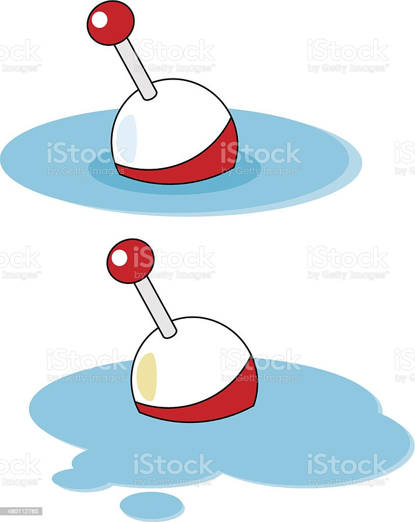 Fishing float vector art illustration