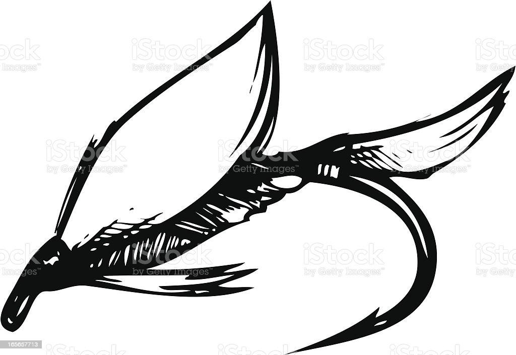Fishing Fly vector art illustration