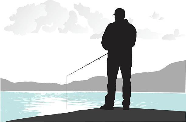 ilustraciones, imágenes clip art, dibujos animados e iconos de stock de pesca desde el muelle - pesca