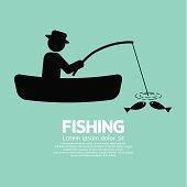 Fishing Graphic Sign Vector Illustration