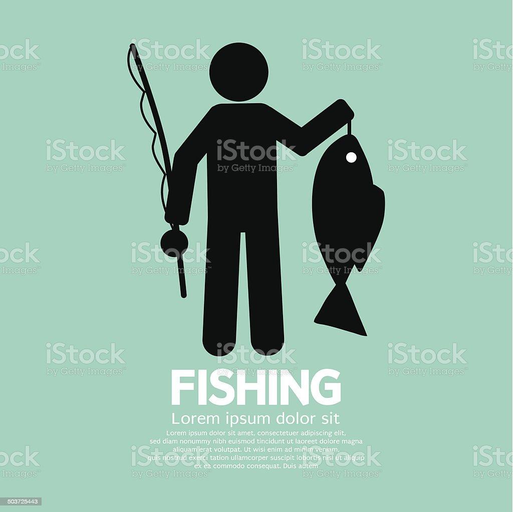 Fishing Graphic Sign Vector Illustration vector art illustration