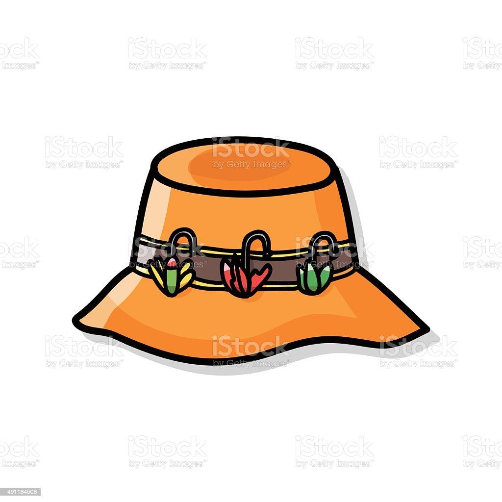 fishing hat stock vector art more images of 2015 491184508 istock rh istockphoto com Fisherman's Yellow Hat Clip Art Fishing Hat Clip Art