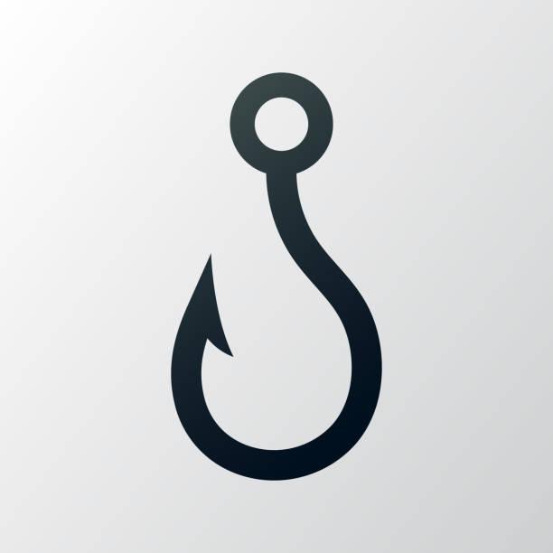 fishing hook - angelhaken stock-grafiken, -clipart, -cartoons und -symbole