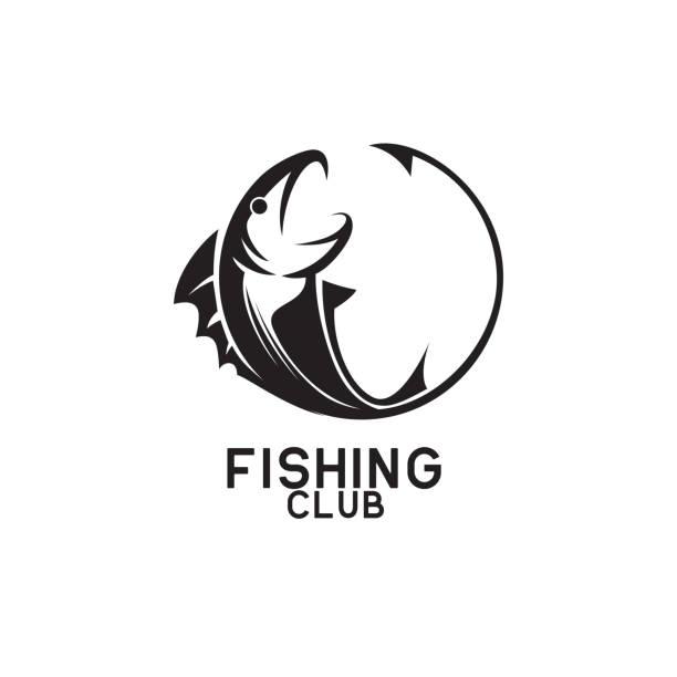 angeln symbol isoliert auf weißem hintergrund, vektor-illustration - angelurlaub stock-grafiken, -clipart, -cartoons und -symbole