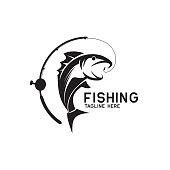istock fishing icon isolated on white background, vector illustration 1170078192