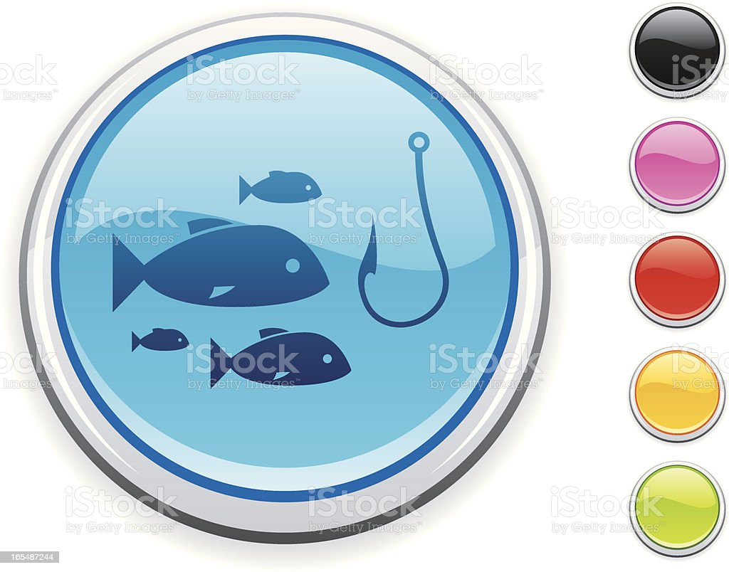 fishing icon royalty-free stock vector art