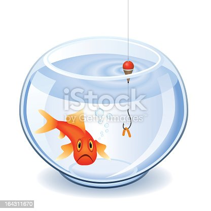 Pesca in boccia per pesci rossi immagini vettoriali for Vaschetta per pesci rossi prezzi