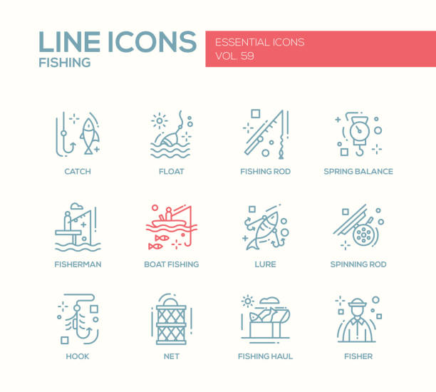 Royalty free rod cell clip art vector images for K9 fishing line