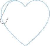 fishing line heart