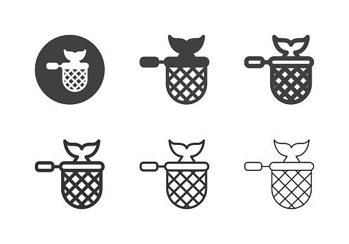 Fishing Net Icons - Multi Series