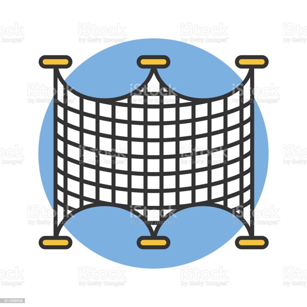 Fischfang-Netze-Symbol – Vektorgrafik