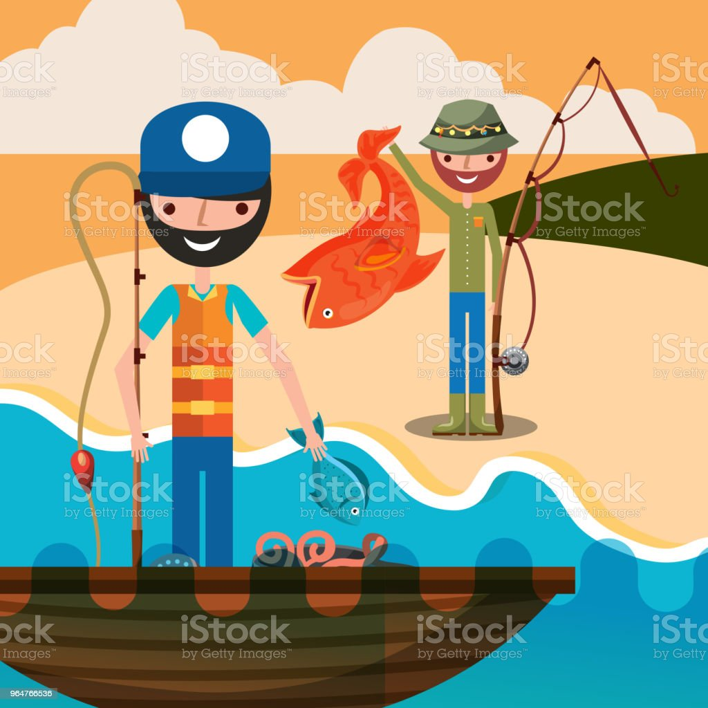 fishing people cartoon royalty-free fishing people cartoon stock vector art & more images of adult