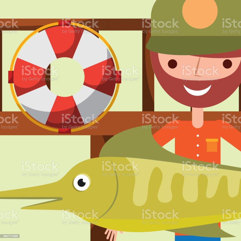 fishing people cartoon royalty-free fishing people cartoon stock illustration - download image now