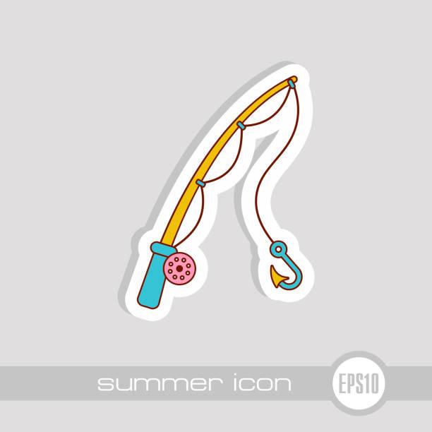 angel-symbol. sommer. urlaub - angelurlaub stock-grafiken, -clipart, -cartoons und -symbole