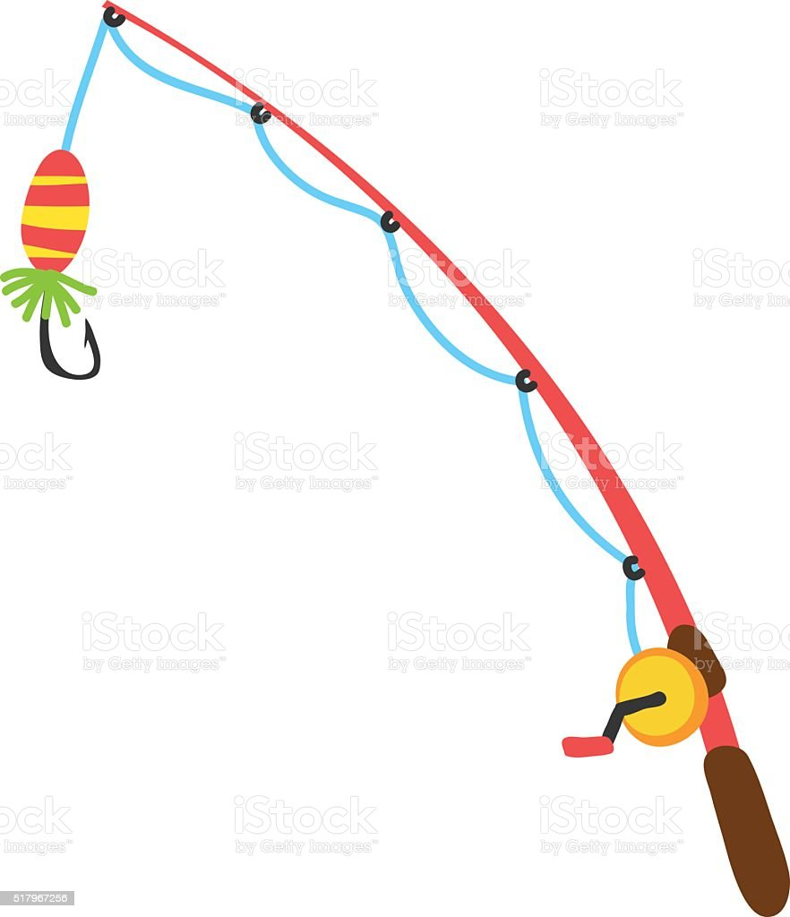 fishing rods vector vector art illustration