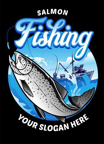 fishing salmon design