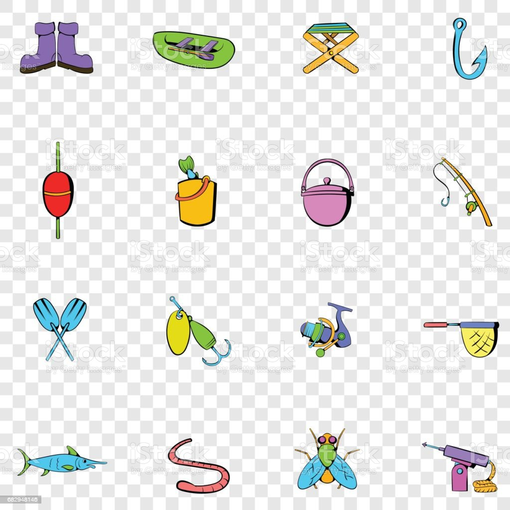 Fishing set icons royalty-free fishing set icons stock vector art & more images of boot