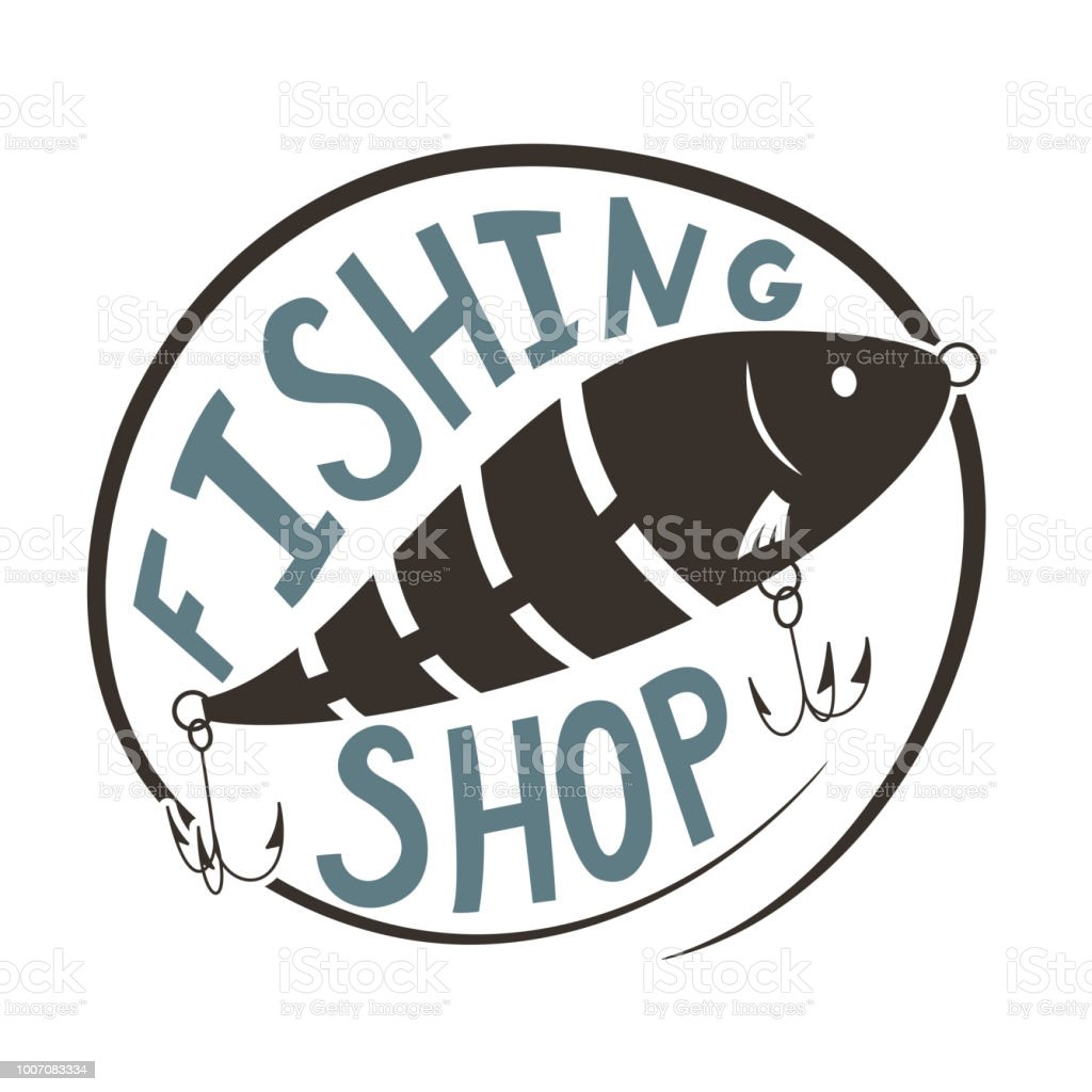 Fishing shop. vector art illustration