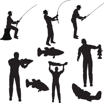 Fishing Silhouette Collection (vector+jpg)
