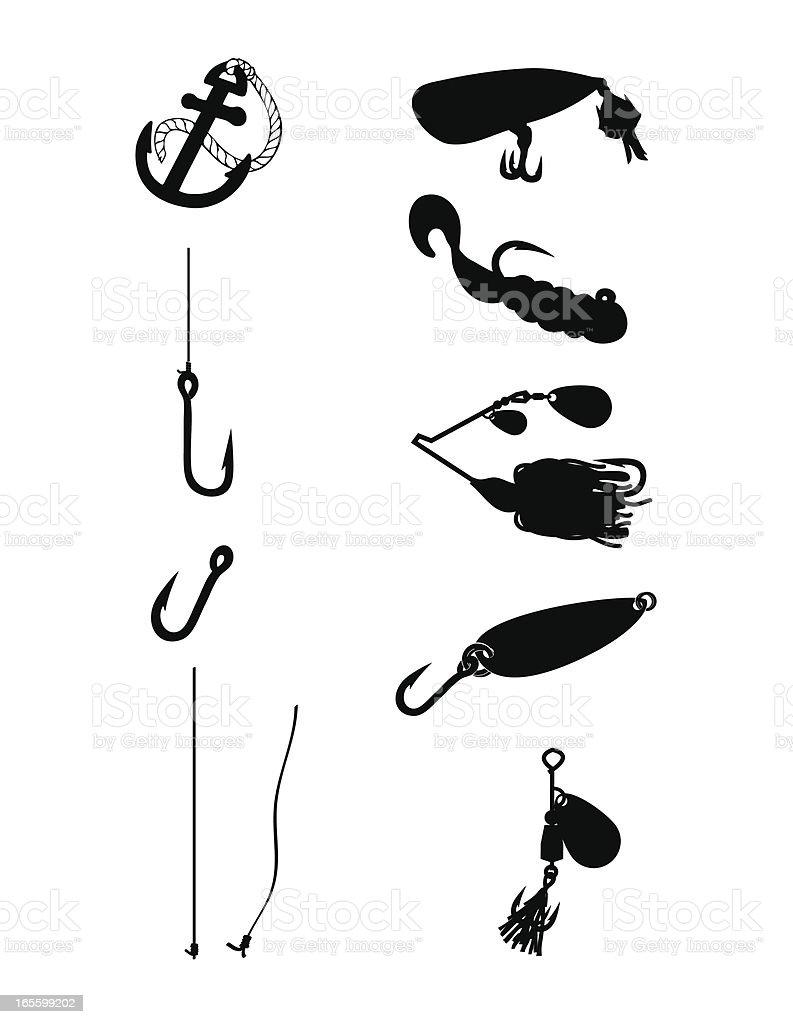 fishing Silhouette vector art illustration